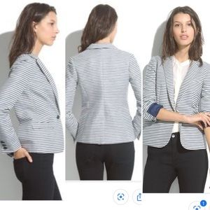 MADEWELL STRIPED TAILORED BLAZER JACKET